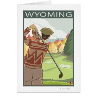 Golfeur SceneWyoming Carte De Vœux