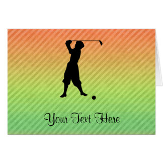 Golfeur vintage carte de vœux