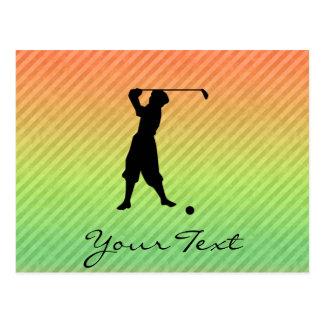 Golfeur vintage cartes postales