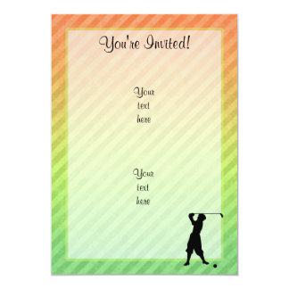 Golfeur vintage carton d'invitation  12,7 cm x 17,78 cm
