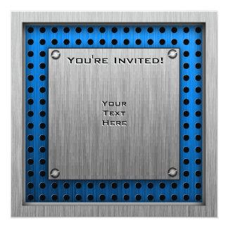 Golfeur vintage ; Métal-regard Carton D'invitation 13,33 Cm