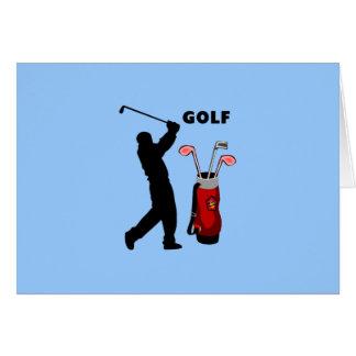 Golfeurs Carte De Vœux