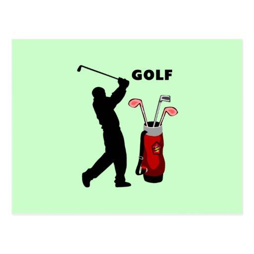 Golfeurs Carte Postale