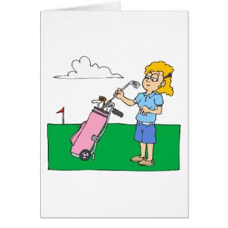Golfeurs de fille carte de vœux