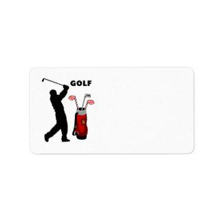 Golfeurs Étiquettes D'adresse