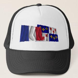 Golvende vlaggen Frankrijk & Picardie Trucker Pet