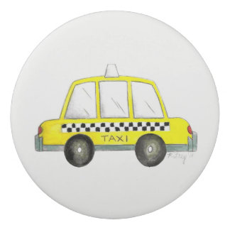 Gomme Copie Checkered jaune de cabine du taxi NYC New