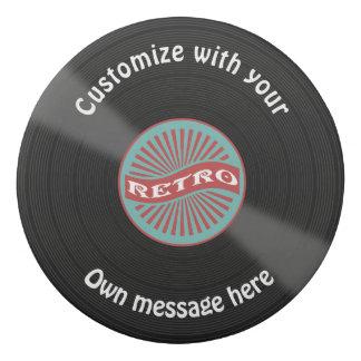 Gomme Disque vinyle customisé