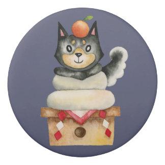 """Gomme Illustration d'aquarelle de chien de """"Mochi Shiba"""""""