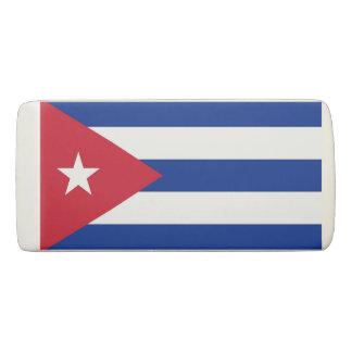 Gomme patriotique de cale avec le drapeau du Cuba