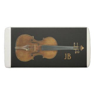 Gomme Violon par Stradivari avec des initiales faites