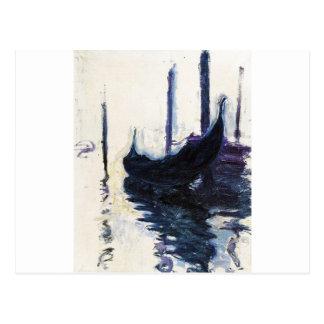 Gondole de Monet à Venise Carte Postale