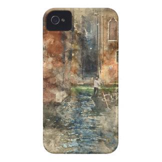 Gondoles de Venise Italie dans le canal Coque iPhone 4 Case-Mate