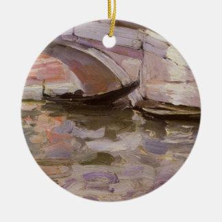 Gondoles par Sargent, beaux-arts victoriens Ornement Rond En Céramique