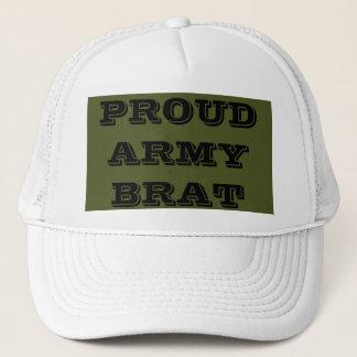 Gosse fier d'armée de casquette