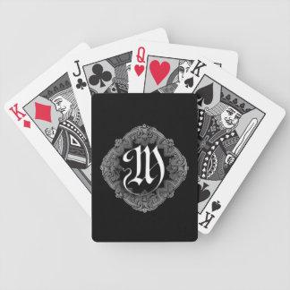 Goth élégant M initial Jeux De Cartes