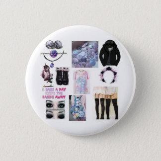 Goth en pastel badge rond 5 cm
