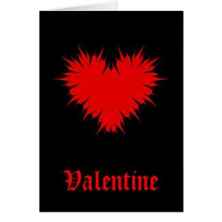 Goth Valentine Carte De Vœux