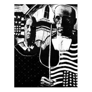 Gothique américain carte postale