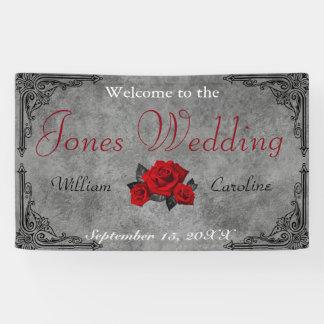 Gotische Zwart-wit nam de Banner van het Huwelijk