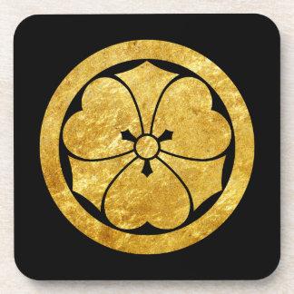 Goud van de de samoeraienclan van Mon van Sakai Onderzetter