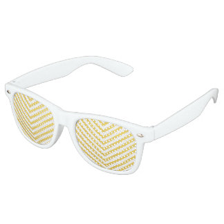 Gouden chevron retro zonnebril