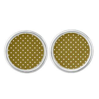 Gouden CuffLinks van de Stip van de Iep Manchetknopen