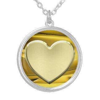 Gouden hart zilver vergulden ketting