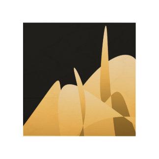 Gouden Samenvatting Hout Afdruk