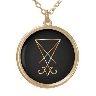 Gouden sigil van Lucifer Goud Vergulden Ketting