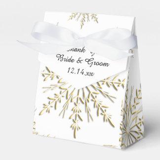 Gouden Sneeuwvlokken op het Witte Huwelijk van de Bedankdoosjes