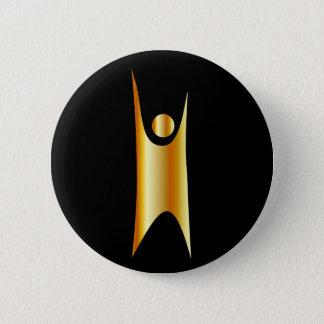 Gouden symbool van Humanisme Ronde Button 5,7 Cm