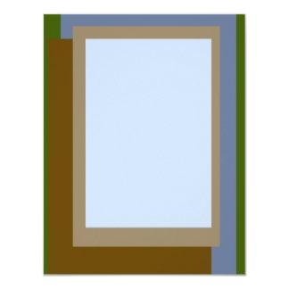 Gouden Verhouding de Blokken van het Koper 10,8x13,9 Uitnodiging Kaart