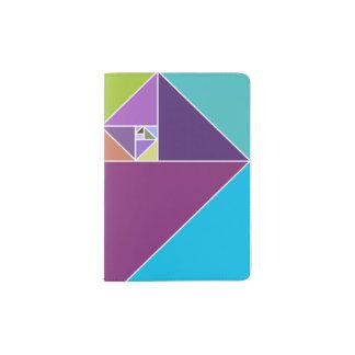 Gouden Verhouding Driehoeken (Heldere Kleuren) Paspoort Houder