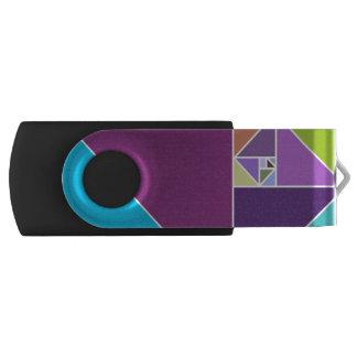 Gouden Verhouding Driehoeken (Heldere Kleuren) Swivel USB 2.0 Stick