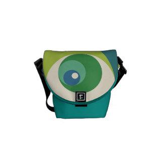 Gouden Verhouding (Groene) Cirkels Courier Bag