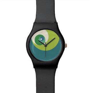 Gouden Verhouding (Groene) Cirkels Horloges