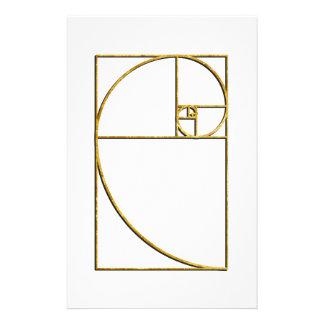 Gouden Verhouding Heilige Spiraal Fibonacci Gpersonaliseerd Briefpapier