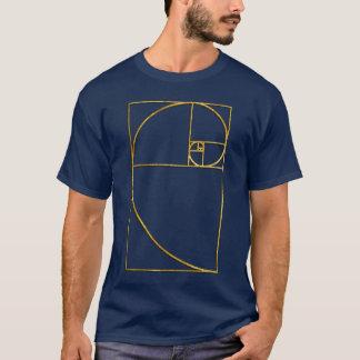Gouden Verhouding Heilige Spiraal Fibonacci T Shirt