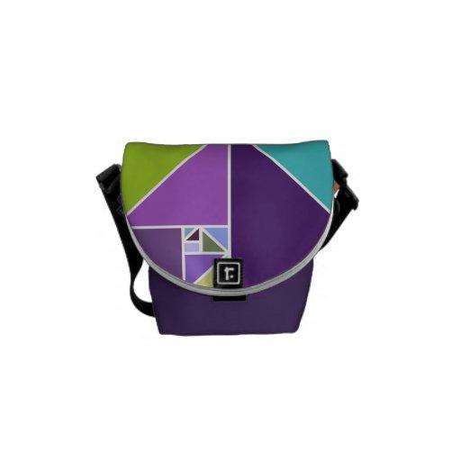 Gouden Verhouding (Heldere Kleuren) Messenger Bags