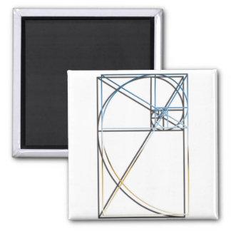 Gouden Verhouding Vierkante Magneet