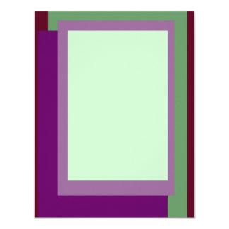 Gouden Verhouding Mauve Blokken 10,8x13,9 Uitnodiging Kaart