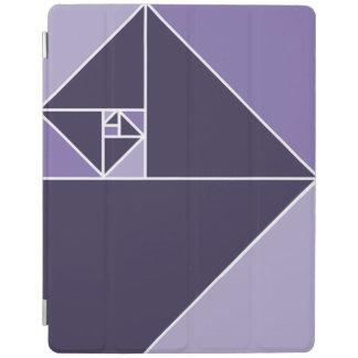 Gouden Verhouding (Paarse) Driehoeken iPad Cover