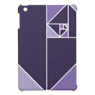 Gouden Verhouding (Paarse) Driehoeken iPad Mini Hoesje