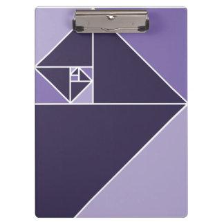 Gouden Verhouding (Paarse) Driehoeken Klembord