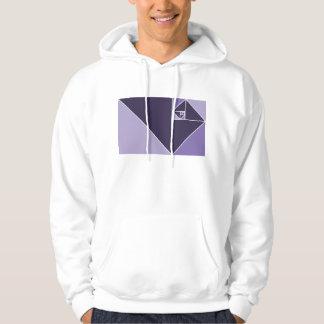 Gouden Verhouding (Paarse) Driehoeken Sweatshirt Met Capuchon