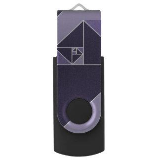 Gouden Verhouding (Paarse) Driehoeken Swivel USB 2.0 Stick