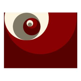 Gouden Verhouding (Rode) Cirkels Briefkaart