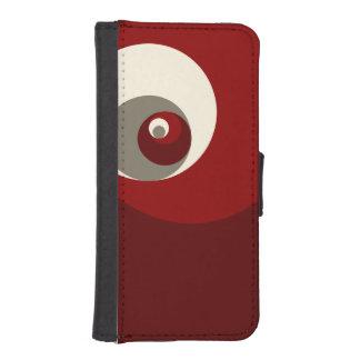 Gouden Verhouding (Rode) Cirkels iPhone 5 Portemonnee Hoesjes