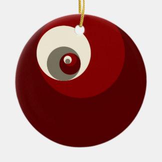 Gouden Verhouding (Rode) Cirkels Kerst Ornament